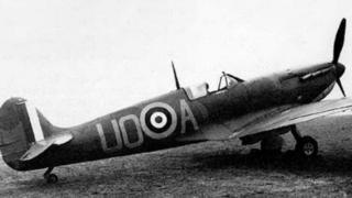 Spitfire which crashed in Holme in 1940