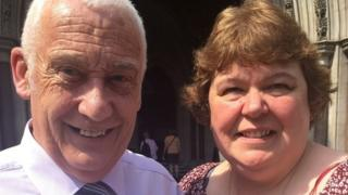 David Bryant and his wife Lynn outside the Royal Courts of Justice