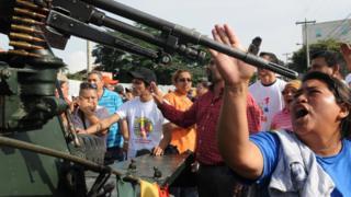 Protesta contra el golpe de Estado en Honduras.