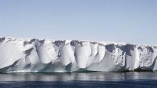 Ross ice shelf in the Ross Sea, Antarctica