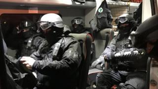 Officers in van