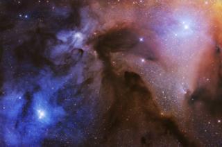 газопылевые облака Ро в созвездиии Змееносца