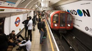 Passageiros do metrô de Londres