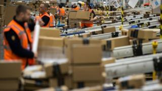 Amazon's Peterborough warehouse