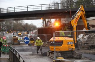 Killingworth Road roadworks