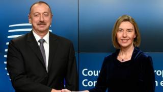 İlham Əliyev və Federica Mogherini