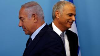Benjamin Netanyahu and Moshe Kahlon - October 2018