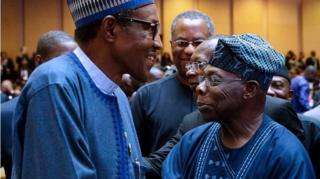 Aarẹ Buhari ati Oloye Ọbasanjọ ni AU