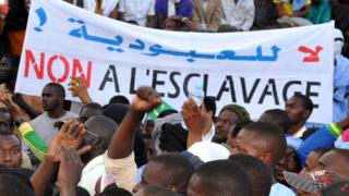 Anti-slavery demonstration in Nouakchott, 2015