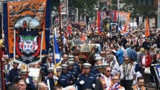 Twelfth of July Orange Order parade