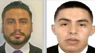 Pictures released by the Attorney General's Office of agents Alfonso Hernández (left) and Octavio Martínez