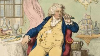 Деталь карикатуры на принца Уэльского