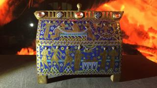 Becket casket on display at Museum of Somerset