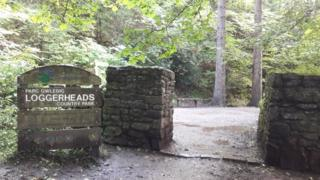 Loggerheads Country Park sign