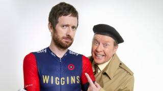 Sir Bradley Wiggins and Michael Crawford