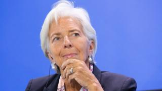 Director of IMF Christine Lagarde, attends a press discussion in Berlin, Germany, 11 Jun 2018.