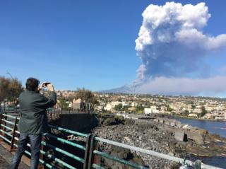 Eruption of Mt Etna on 24 December 2018