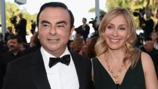 Carlos Ghosn and his spouse Carole Ghosn at Cannes Film Festival in 2016