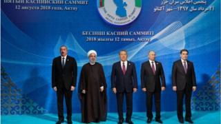 Năm tổng thống tại Hội nghị Thượng đỉnh các nhà lãnh đạo của các quốc gia ven Biển Caspi lần thứ 5 tại Aktau, Kazakhstan 12/8/2018