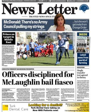 News Letter front page Wednesday 27 June