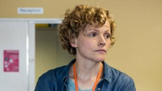 Maxine Peake as sexual health worker Sara Rowbotham in Three Girls