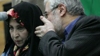 میرحسن موسوی و زهرا رهنورد
