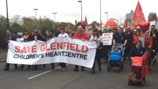 Leicester's Glenfield Children's Heart Centre closure march