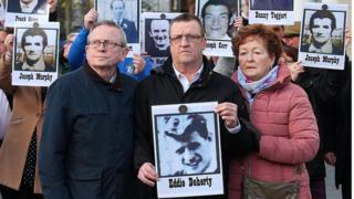 Edward Doherty's family outside court