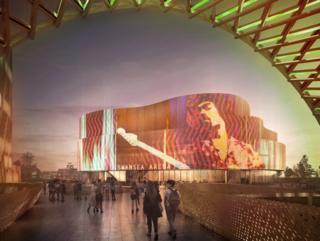 Artist impression of new arena