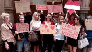 Spearmint Rhino protesters