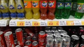 A selection of fizzy drinks