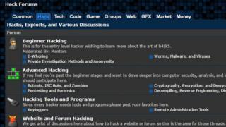 Hack Forums screengrab