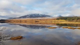 The north east end of Loch Tulla.
