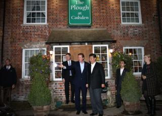 The Prime Minister and the President of China at The Plough