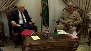 Boris Johnson and Field Marshal Khalifa Haftar