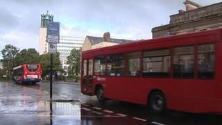 The bus lane at John Dobson Street