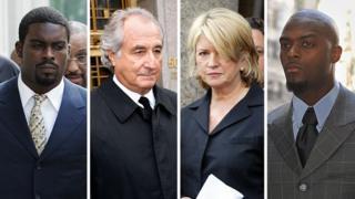 Michael Vick, Bernie Madoff, Martha Stewart, Plaxico Burress