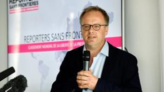 RSF Genel Sekreteri Christophe Deloire 2018 raporunu Paris'te açıkladı