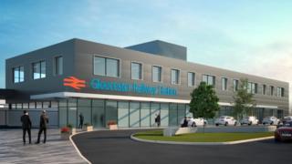 Artist's impression of revamped Gloucester railway station