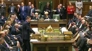David Cameron speaking in the House of Commons