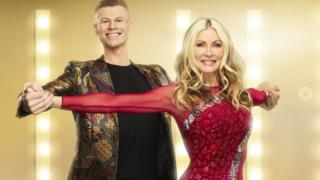 Hamish Gaman and Caprice on the ITV show Dancing On Ice