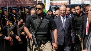 Korumaları eşliğinde 13 Mart'ta Gazze Şeridi'ne giden Filistin Yönetimi Başbakanı Rami Hamdallah, Hamas güvenlik güçlerince karşılandı