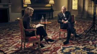 Emily Maitlis interviewing Prince Andrew