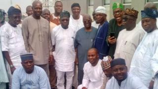 Aworan Makinde ati Obasanjo