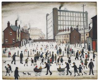LS Lowry's 1943 painting entitled The Mill, Pendlebury