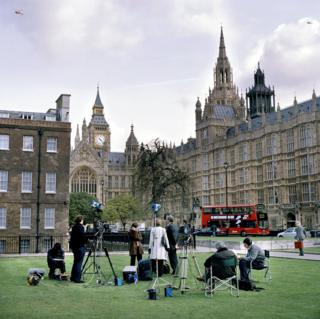 College Green on the day of the 2005 general election