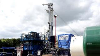Fracking exploration rig