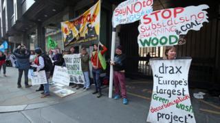 Drax protest