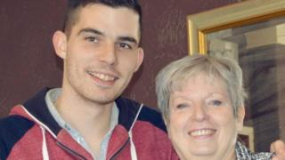 Danny Cheetham and his mum