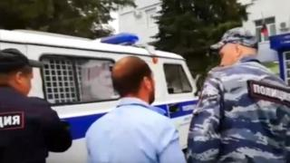 Arrest in Chemodanovka - Investigative Committee (SK) site